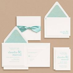 Teal Wedding Invitation