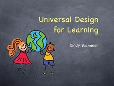 Universal Design for Learning slideshow