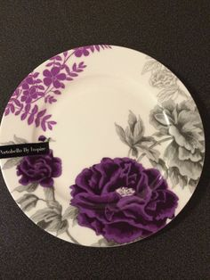 Portobello by Inspire. 1Salad Plate. Grey And Purple Floral. New. Bone China & portobello by inspire dinnerware--purple dinner plate - Google ...