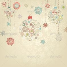 Beige Background with Christmas Balls