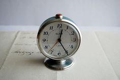 Vintage Russian Alarm Clock Slava Alarm Clock by honeyandsea