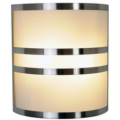 Monument 617605 Brushed Nickel Wall Sconce With Accents, 10 In. - Lighting Sconces Indoor - Amazon.com