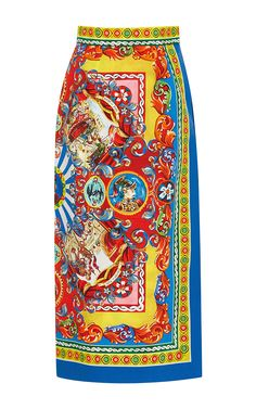 Cotton Printed Wrap Skirt by DOLCE & GABBANA Now Available on Moda Operandi