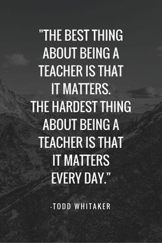 teaching matters every day