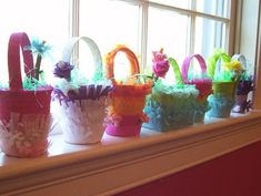 May Baskets, an old tradition pretty much gone by the wayside.  I remember giving and getting these as a child.