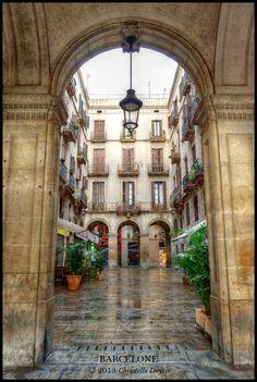 Plaça Reial, Barcelone by Christelle Deyris