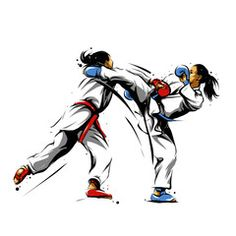 karate action 10 - Acquista questo vettoriale stock ed esplora vettoriali simili in Adobe Stock | Adobe Stock Karate Kata, Shotokan Karate, Bruce Lee Art, Goju Ryu, Picture Collection, Taekwondo, Types Of Art, Kung Fu, Martial Arts