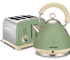 Sage Green kettle and toaster set