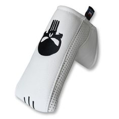 Skull White Blade Putter Cover Headcover with Magnetic Ball Marker For Odyssey