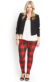 Tartan Plaid Leggings #F21Plus #SummerForever ... omfg i am not even joking i NEED these leggings. i hate leggings and i need these.