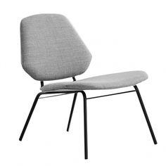 Woud's Lean lounge chair, grey