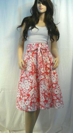 70s wrap-around skirt