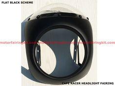 Cafe Racer Headlight Fairing Honda Suzuki Yamaha Triumph Kawasaki BSA Retro HF01 #Aftermarket