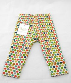 Organic cotton Leggings, Multi Dot, BABY LEGGINGS, 0-3m, 3-6m, 6-12m,12-18m, 18-24m,  baby shower gift, luckypalmtree