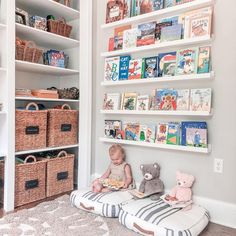 If you've been searching for some inspo to create the perfect reading nook for your child (and you), we've got you covered! If you've been searching for some inspo to create the perfect reading nook for your child (and you), we've got you covered! Kids Corner, Nursery Room, Baby Room, Nursery Wall Decor, Nursery Ideas, Girl Room, Girls Bedroom, Child Room, Reading Nook Kids