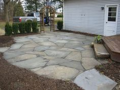 flagstone or stone patios and walkways - Google Search