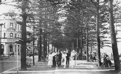 Manly in the with the Hotel Pacific on the left. Photo shared by the Manly Library, New South Wales. Manly Sydney, Bronte Beach, Aboriginal History, Manly Beach, Australia Day, Largest Countries, Historical Pictures, Tasmania, Old Photos