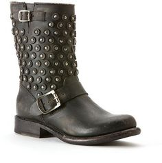 bc3bcf3015827 Frye Studded Moto Booties - Jenna Disc - ShopStyle Boots