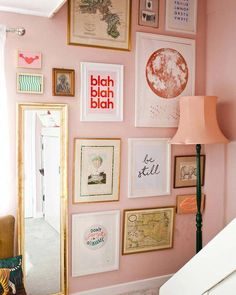 How to Create a Gallery Wall – Wear & Where #PhotoWallDesignIdeas Do It Yourself Inspiration, Inspiration Wall, Interior Inspiration, Gallery Wall Bedroom, Kitchen Gallery Wall, Modern Gallery Wall, Bathroom Gallery, Images Murales, Interior Paint Colors