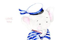 Elephants Watercolor Collection - Illustrations - 8