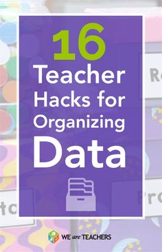 Great ideas for organizing data for elementary teachers!