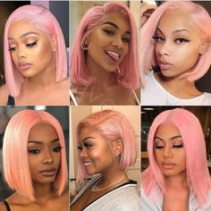 2020 Pink Hair Lace Frontal Wigs Purple Pink Orange Hair Ombre Pink Lace Front Wigs Human Hair Pink And Black Ombre Hair Pink And Orange Hair, Purple Hair, Ombre Hair Extensions, Human Hair Extensions, Remy Human Hair, Human Hair Wigs, Black Hair Ombre, Ombre Brown, Gray Hair