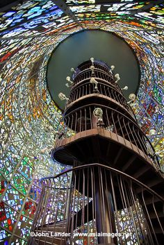 Stained Glass Staircase at the Hakone Outdoor Museum in Japan