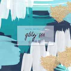 Abstract Art Watercolor Background by Brand Candi on @creativemarket