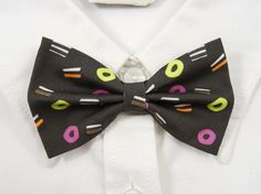 Liquorice Allsorts Bow Tie by PixieBluebellDesigns on Etsy