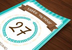 Wedding Invitations Set - Turquoise by Elegrad Design Agency on @creativemarket