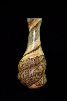 Wood Vase -  Bittersweet Vine by FaunaMeetsFlora on Etsy