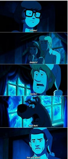 LOVED THIS EPISODE. I think of how if any actual Scooby-doo episode were like this when I was little, I would have been screwed up much sooner 😂😂 Scooby Doo Memes, Supernatural Destiel, Supernatural Funny Moments, Scooby Doo Mystery Incorporated, Stupid Memes, Superwholock, Movies Showing, Funny Pictures, Fandoms