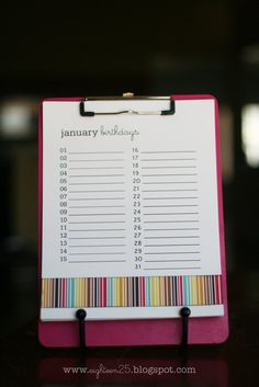 Birthday Calendar eighteen25: party ideas (part four)