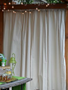 Drop Cloth Outdoor Curtains | Outdoor Curtains, Screened Porches And Porch