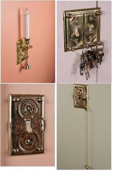 How to Steampunk your Light Switch Plates
