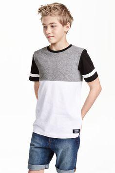 Block-coloured T-shirt   H&M