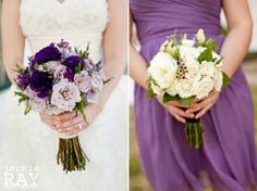 LOVE this! i don't like when brides have white bouquets, it blends in and then what's the point!?