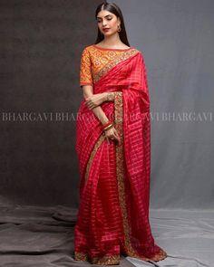 An Elite Collection Of Sarees With A Contemporary Edge Indian Attire, Indian Wear, Indian Outfits, Indian Clothes, Trendy Sarees, Sari Blouse Designs, Saree Models, Blue Saree, Soft Silk Sarees