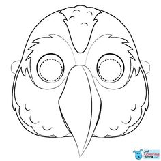 Cockatoo Mask Coloring Pages and others free printable coloring pages for kids and adults! Just free for you! Flamingo Coloring Page, Bird Coloring Pages, Free Printable Coloring Pages, Coloring Pages For Kids, Coloring Books, Printable Crafts, Free Printables, Owl Facts, Animal Masks