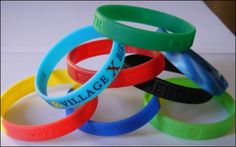 Band Merch Ideas Under $1.00: Custom Wristbands. For custom promo items, visit: http://www.unifiedmanufacturing.com/products-page/product-category/t-shirts/