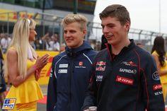 Max Verstappen, Marcus Ericsson, Sauber, Scuderia Toro Rosso, Formule 1 Grand Prix van Groot-Brittannië 2015, Formule 1