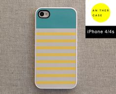 iPhone 4 case iPhone 4s case  teal top pastel by AnotherCase, €12.00