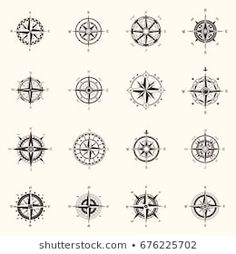Similar Images, Stock Photos & Vectors of Vector antique compasses with ornate dials for use as design elements in vintage or retro nautical and marine concepts, black and white - 226258699 Mandala Compass Tattoo, Compass Tattoo Design, Wind Rose, Design Elements, Nautical, Vectors, Tattoo Designs, Royalty Free Stock Photos, Retro