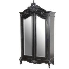 Sassy Boo 2-Door Mirrored Armoire