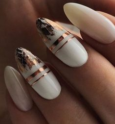 50 Gorgeous White Nail Art Design Beauty Life Tips Nägel ideen White Nail Art, White Nails, White Summer Nails, Stylish Nails, Trendy Nails, Hair And Nails, My Nails, Fall Nails, Dream Nails