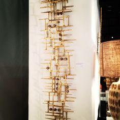 Gilded Geometric Wall Sculpture