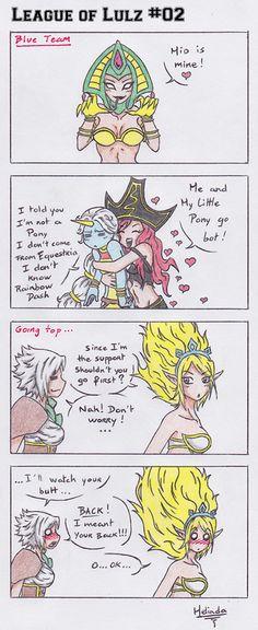 But Soraka does know Rainbow Dash. Rainbow Dash's League name is Arcade Hecarim...