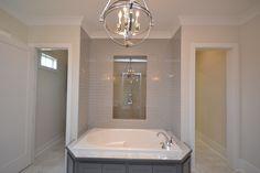 Custom Shower With Grey Subway Tile Casiewebbdesigns Ketteringham Builders