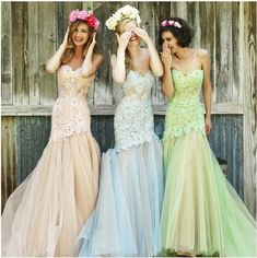 2016 Fashion Mermaid Evening Dress Strapless Bridesmaid Dress Lace Prom  Gowns Miss Evening E021 4f59ad0e7856
