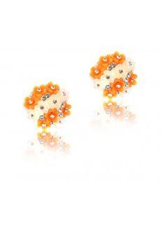 Buy Orange & white resin flower bouquet Online for Cheap